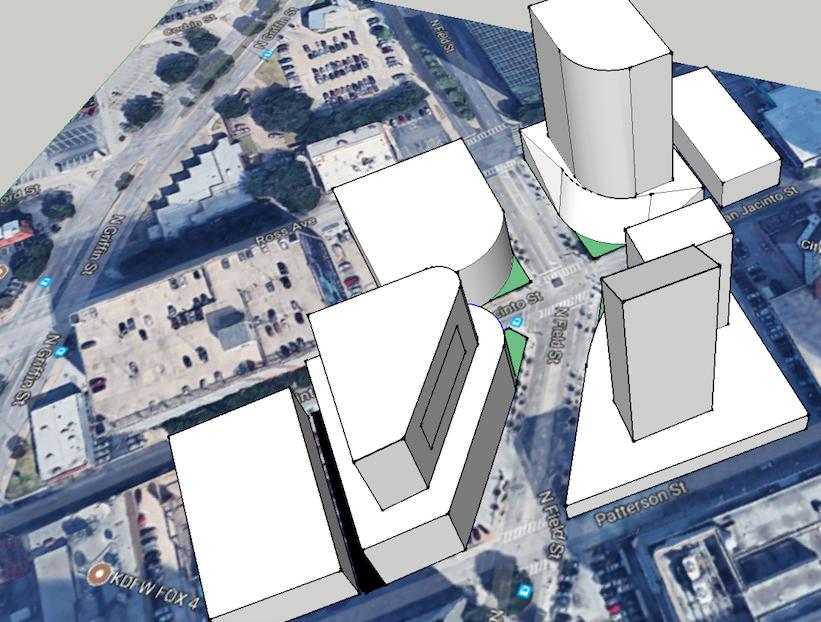 Downtown Dallas redevelopment scenario