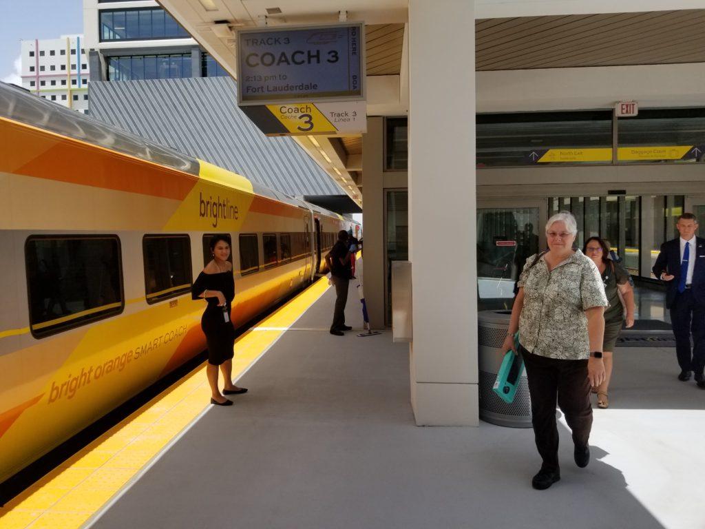Brightline train platform